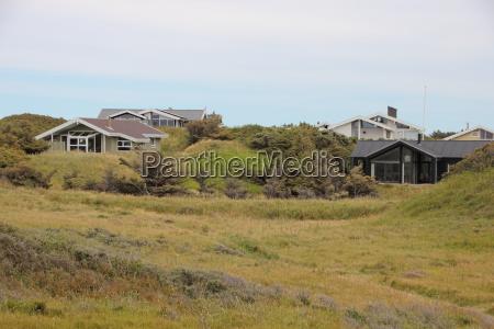 summer, houses, in, green, grass, hills - 15719178