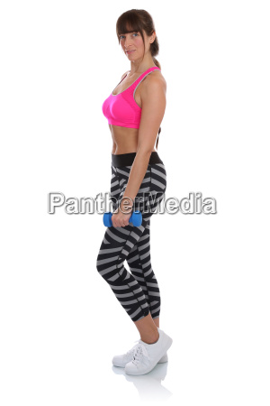 sport fitness woman standing while exercising