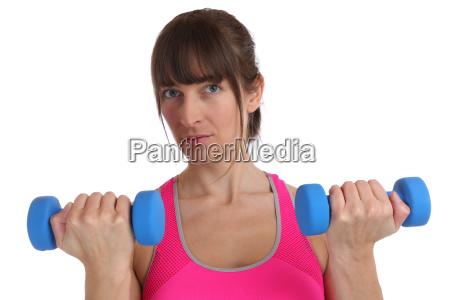 kraft power stark fitness frau beim