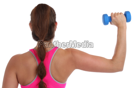 fitness workout woman training with dumbbells