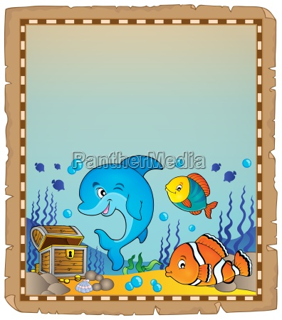 parchment with underwater theme 8