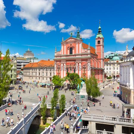 preseren square ljubljana capital of slovenia