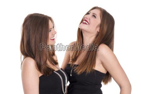 2 women laugh and be happy
