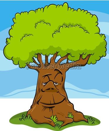 tree fantasy character cartoon