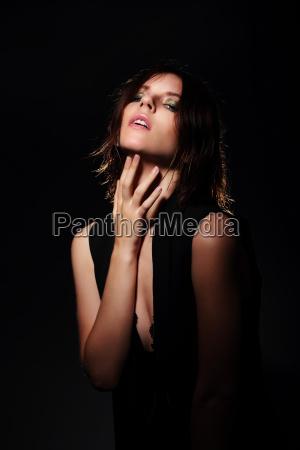 stylish portrait of model on a
