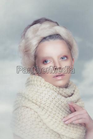 surreal portrait of a woman