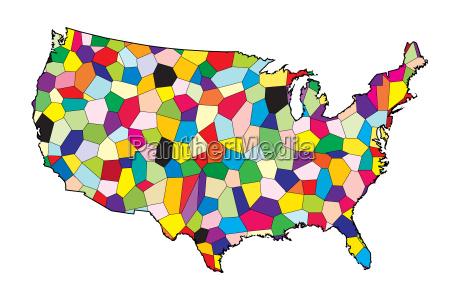 usa flagge karte patchwork