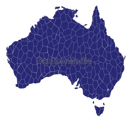 australien karte mosaik