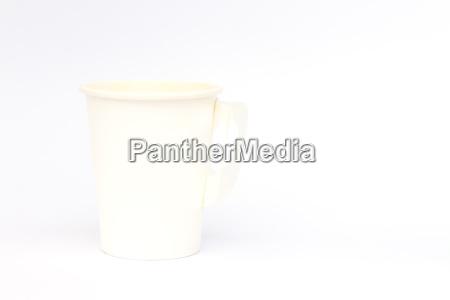 kaffeetasse auf weissem hintergrund isoliert