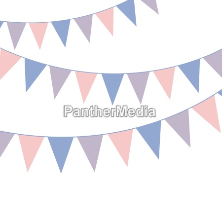 bunting banner rose quarts and serenity