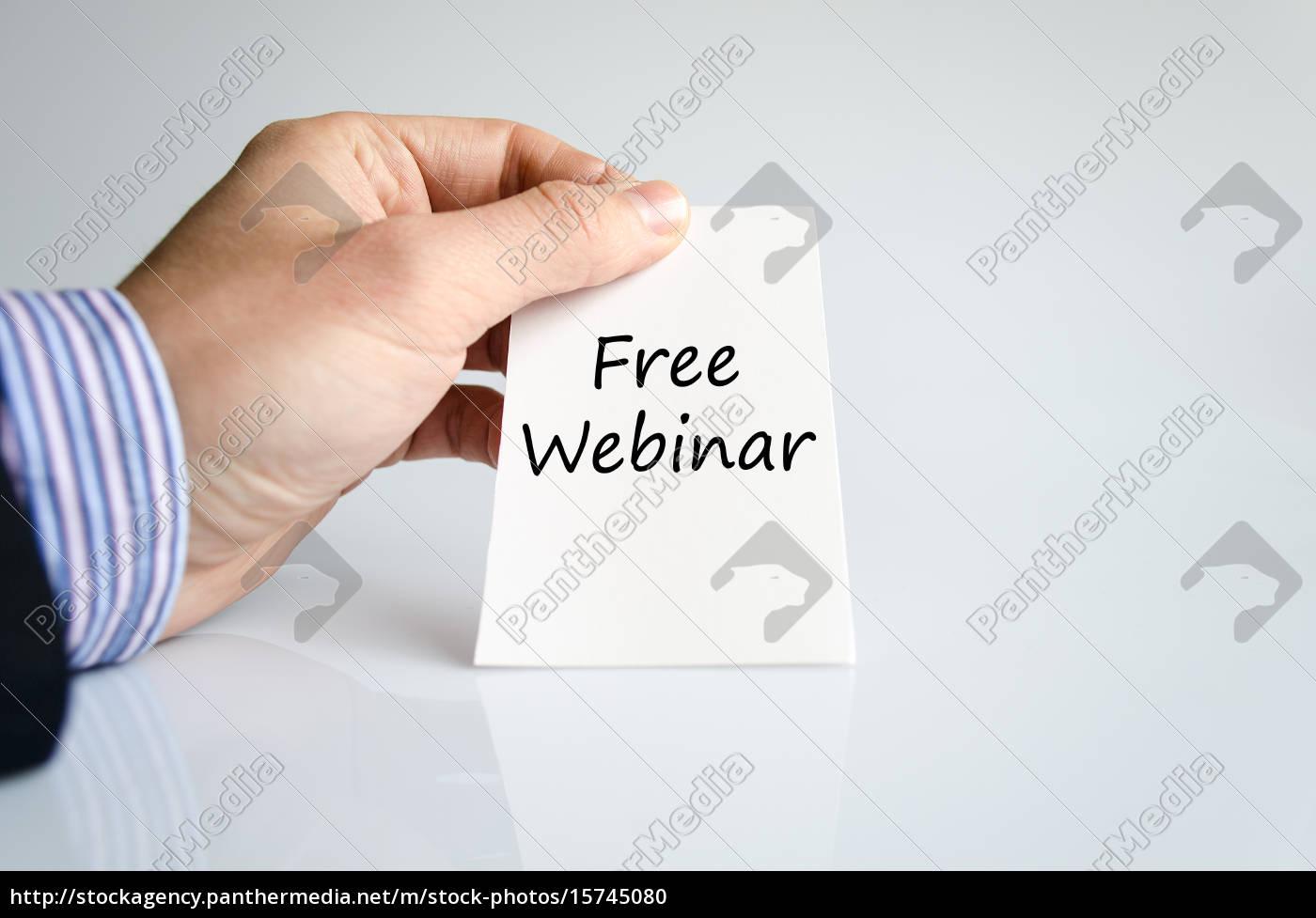 kostenloses, webinar-textkonzept - 15745080