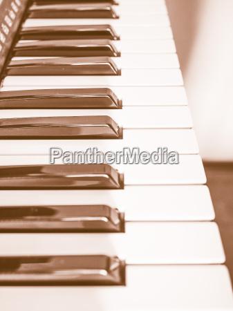 musik tastatur vintage