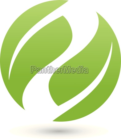 two leaves in a circle logo