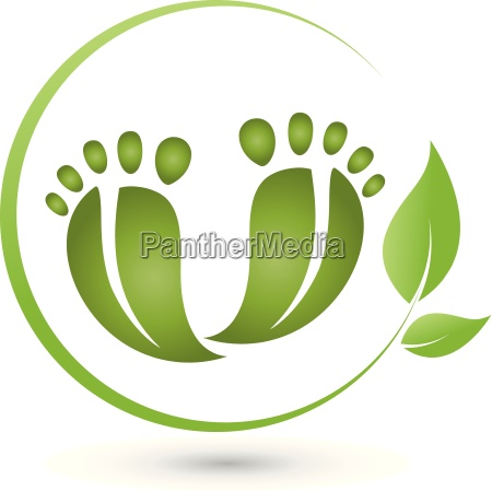 two feet and leaves logo pedicure
