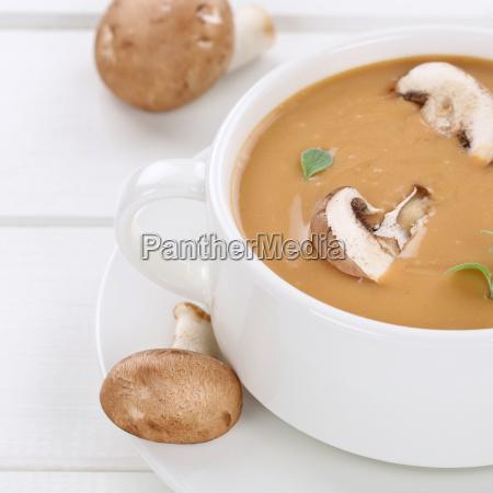 gesunde ernaehrung pilzsuppe pilz champignons suppe