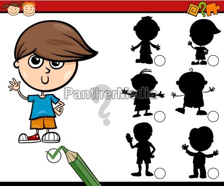 schatten, aufgabe, cartoon, für, kinder - 15776822