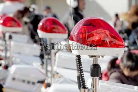 rote polizei licht notlicht polizei sirene