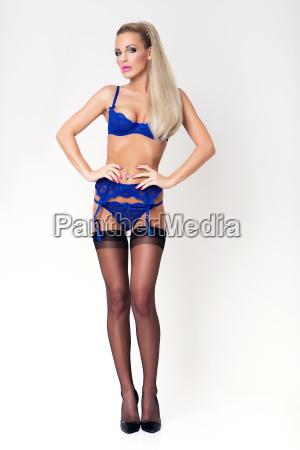 slim blonde sexy girl in luxury