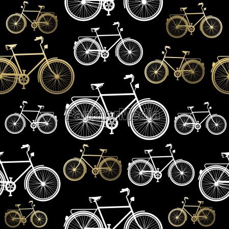 bike nahtlose muster fahrrad gold konzept