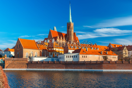 cathedral island in the morning wroclaw