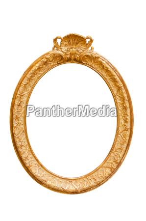 isolated vintage decoration decorative oval photo