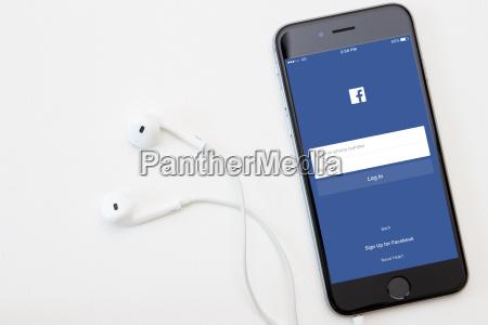 facebook anwendung auf dem iphone betrieb