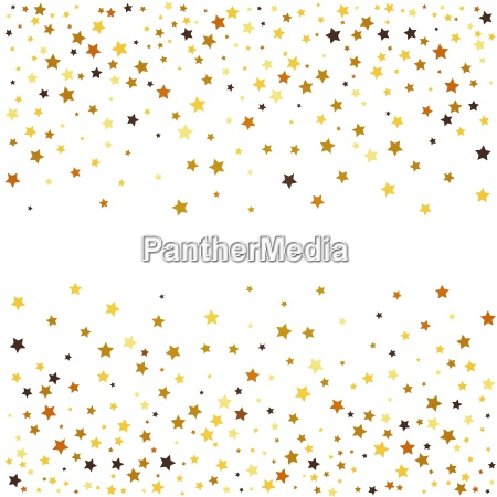 gold glitter stars on white background