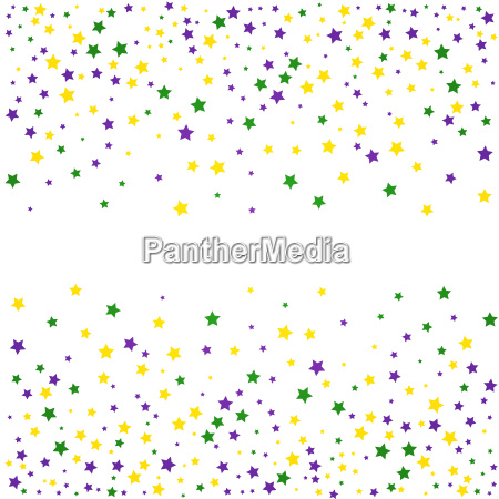 mardi gras background with stars vector