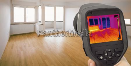 heat leak infrared detection