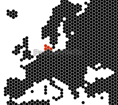 europakarte sechsecke daenemark