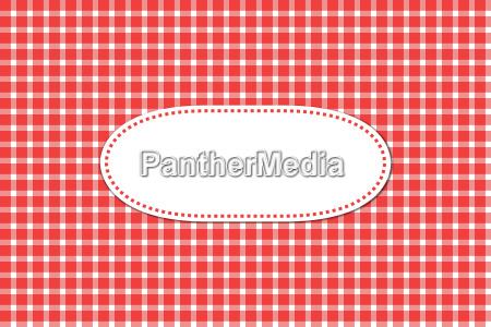 grusskarte mit tischdeckenmuster rot weiss