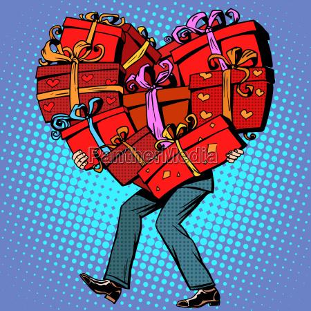maennliche geschenke valentinstag herz