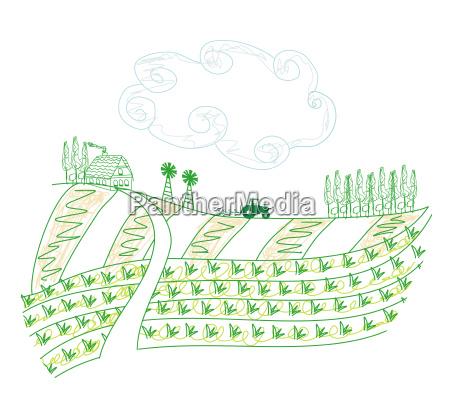 traktor pfluegen feld