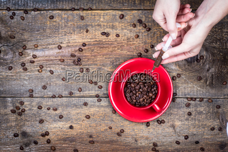 dose of coffee with cup and