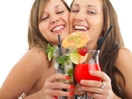 party maedchen mit cocktails party maedchen