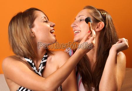 anwenden von make up anwenden von