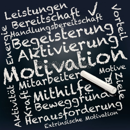 tafel und kreide mit motivation