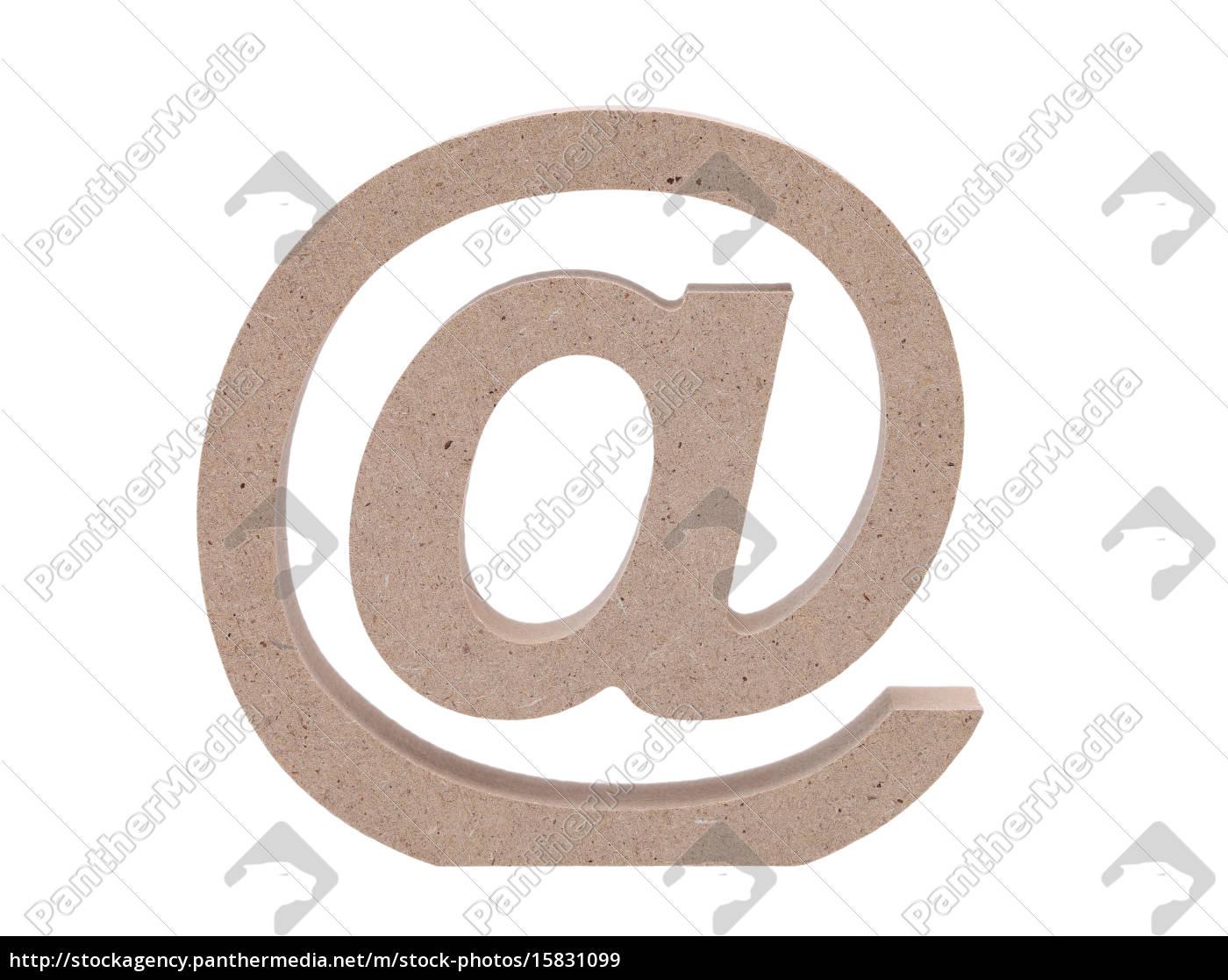 e-mail-symbol, auf, weißem, hintergrund - 15831099