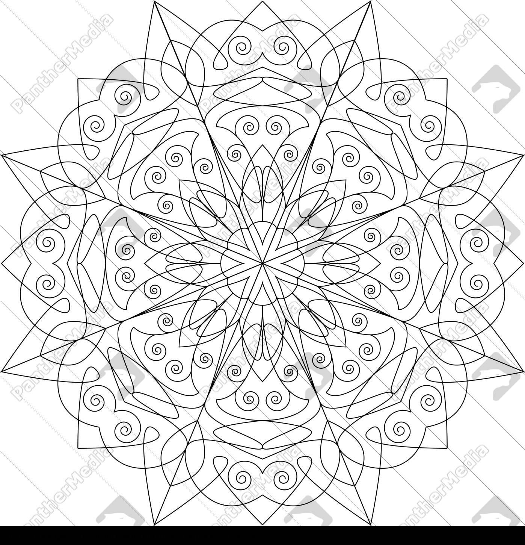 Stockfoto 7 - Mandala Vorlage Malbuch für