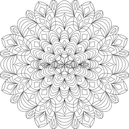 mandala vorlage malbuch fuer erwachsene meditationshilfe