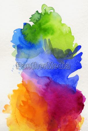 watercolor rainbow abstract gradient