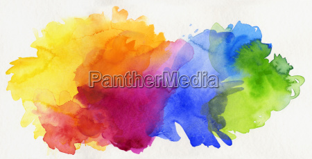 aquarell, regenbogen, abstrakt, freigestellt - 15836861