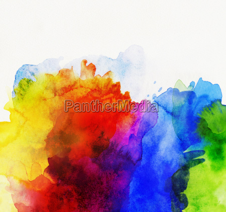 rainbow watercolor abstract