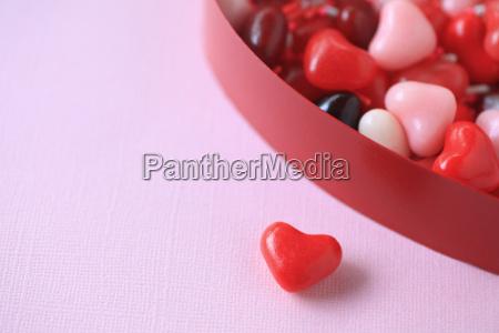 valentine herz bonbons mit kopie raum