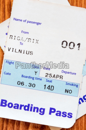 air travel boarding pass