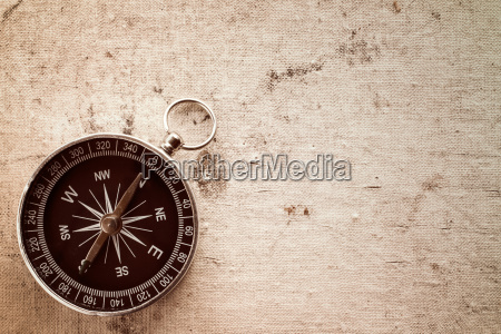 old canvas texture with compass