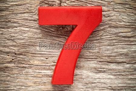 rote nummer sieben