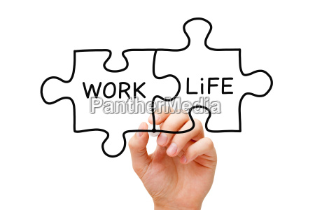 work life puzzle konzept