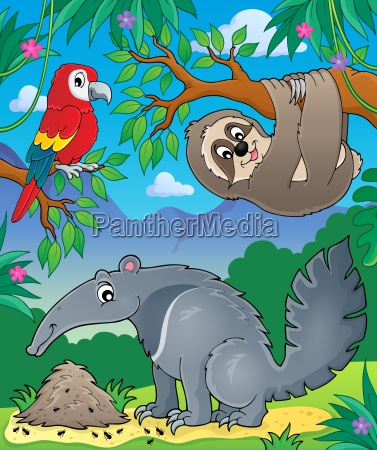 animals in jungle topic image 1