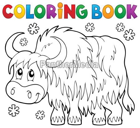 coloring book yak theme 1
